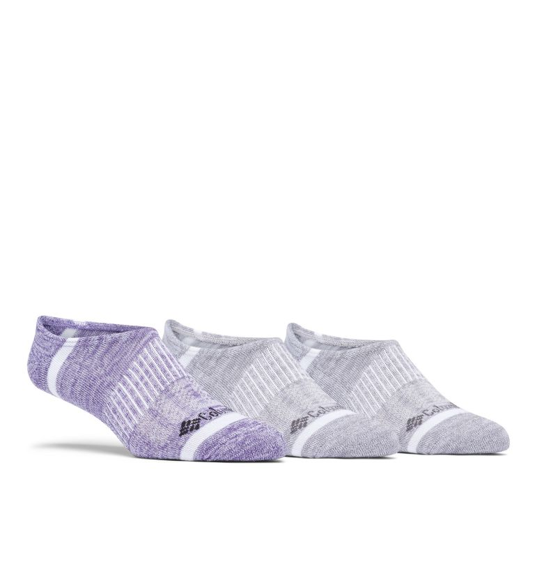Space Dye Eclipse Liner | 544 | O/S Space Dye Eclipse Liner Socks - 3 Pack, Plum Purple Multi, front