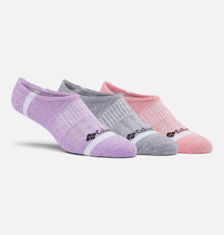Space Dye Eclipse Liner | 802 | O/S Space Dye Eclipse Liner Socks - 3 Pack, Salmon Multi, front