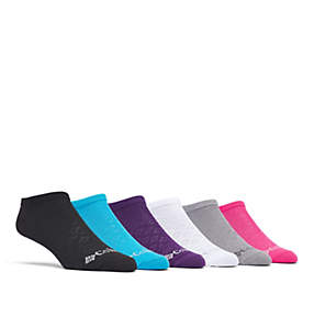 Fashion Pattern Mesh No-Show Sock - 6 Pack