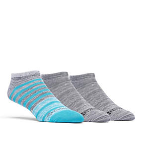 Super Soft Space Dye Stripe No-Show Sock - 3 Pack