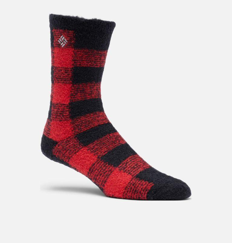 Buffalo Plaid Cozy | 010 | O/S Women's Buffalo Plaid Cozy Socks - 1 Pair, Black, front