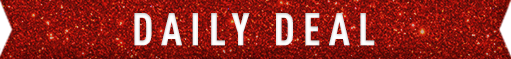 Daily Deal in a red sparkle banner