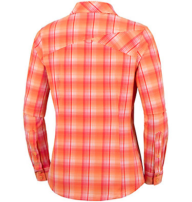 Women's Saturday Trail™ Stretch Long Sleeve Plaid Shirt , back