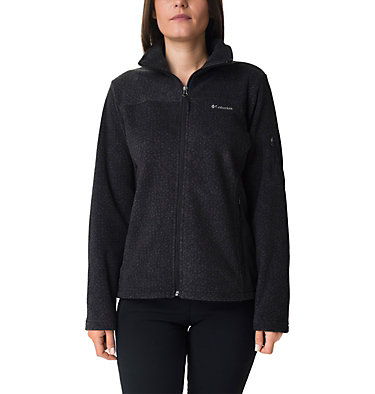 Women's Fast Trek™ Printed Fleece Jacket Fast Trek™ Printed Jkt | 592 | XL, Black Dot Print, front