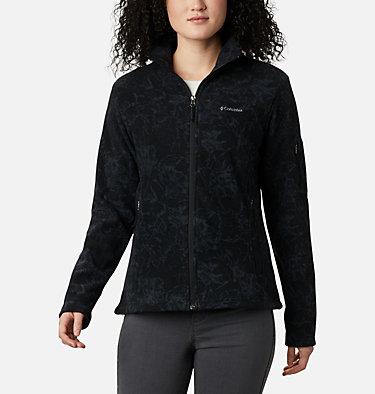 Women's Fast Trek™ Printed Fleece Jacket Fast Trek™ Printed Jkt | 015 | XS, Black Brushstroke Floral, front