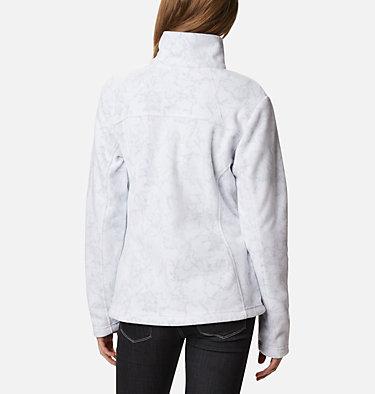 Women's Fast Trek™ Printed Fleece Jacket Fast Trek™ Printed Jkt | 015 | XS, White Brushstroke Floral, back