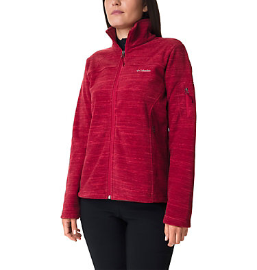 Women's Fast Trek™ Printed Fleece Jacket Fast Trek™ Printed Jkt | 592 | XL, Daredevil Spacedye Print, front