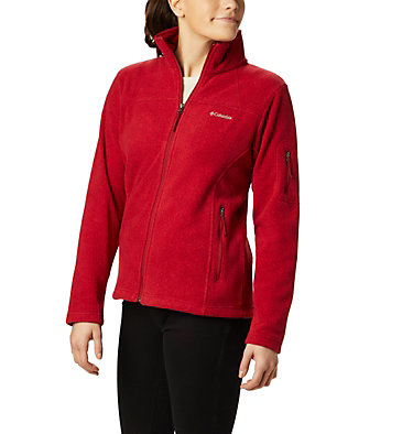 Women's Fast Trek™ Printed Fleece Jacket Fast Trek™ Printed Jkt | 015 | XS, Beet Dot Print, front