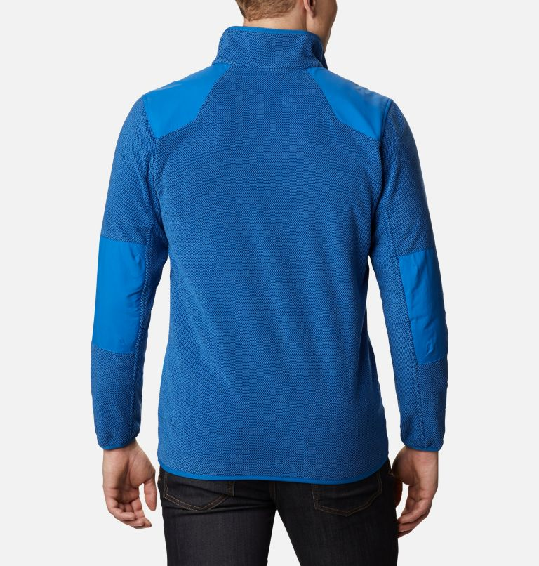Tough Hiker™ Full Zip Fleece | 432 | XXL Men's Tough Hiker™ Full-Zip Fleece, Bright Indigo, back