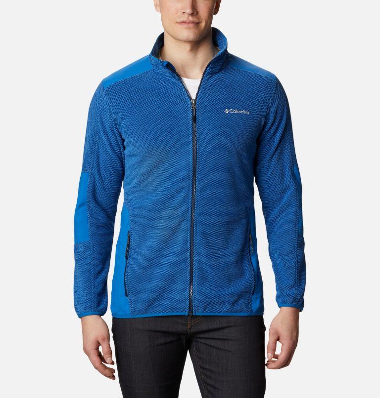 Tough Hiker™ Full Zip Fleece | 432 | XXL Men's Tough Hiker™ Full-Zip Fleece, Bright Indigo, front