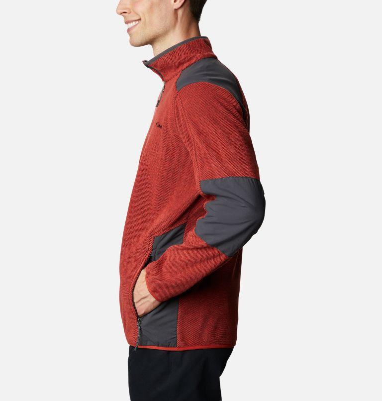 Tough Hiker™ Full Zip Fleece | 844 | XL Men's Tough Hiker™ Full-Zip Fleece, Flame, Shark, a1