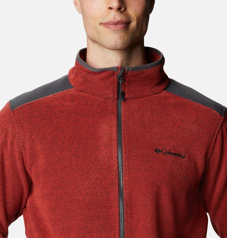 Tough Hiker™ Full Zip Fleece | 844 | XL Men's Tough Hiker™ Full-Zip Fleece, Flame, Shark, a2