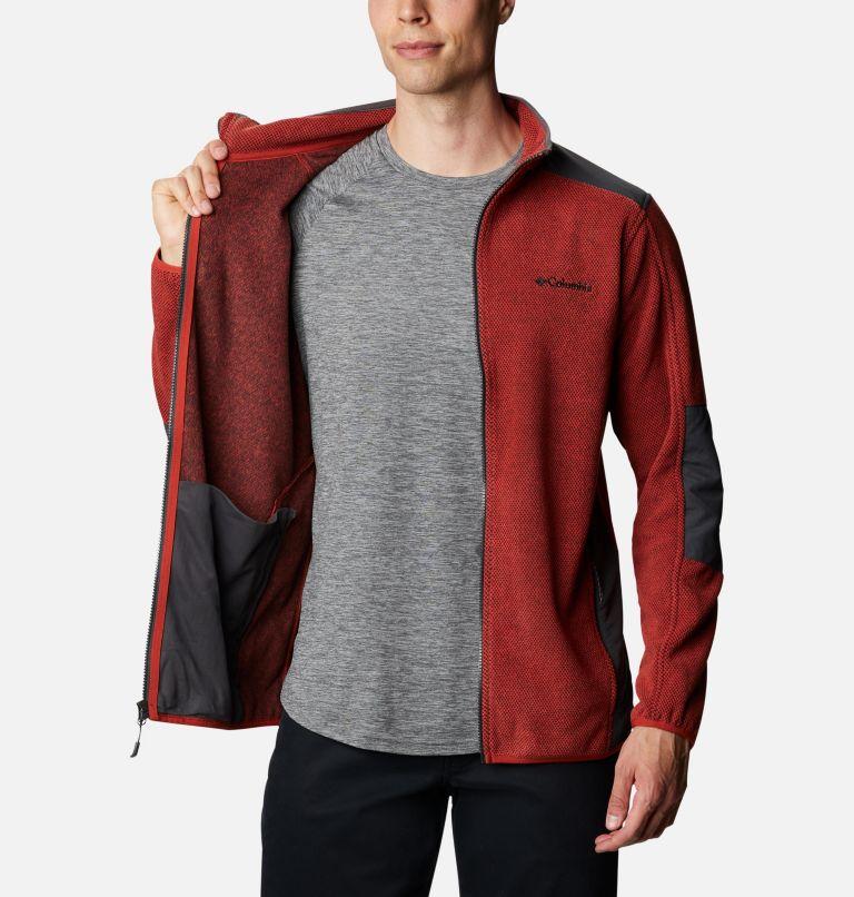 Tough Hiker™ Full Zip Fleece | 844 | XL Men's Tough Hiker™ Full-Zip Fleece, Flame, Shark, a3