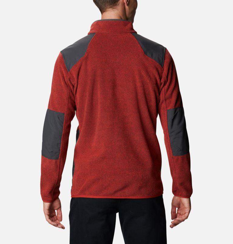 Tough Hiker™ Full Zip Fleece | 844 | XL Men's Tough Hiker™ Full-Zip Fleece, Flame, Shark, back