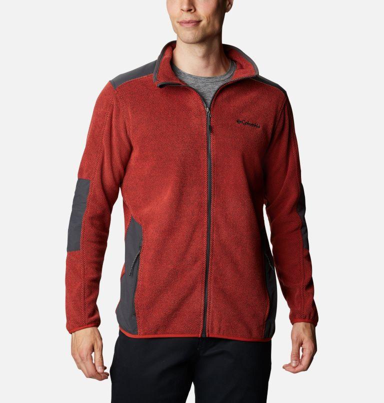 Tough Hiker™ Full Zip Fleece | 844 | XL Men's Tough Hiker™ Full-Zip Fleece, Flame, Shark, front