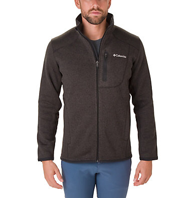 Men's Altitude Aspect™ Full Zip Fleece Jacket Altitude Aspect™ FZ | 449 | XS, Black, Heather, front