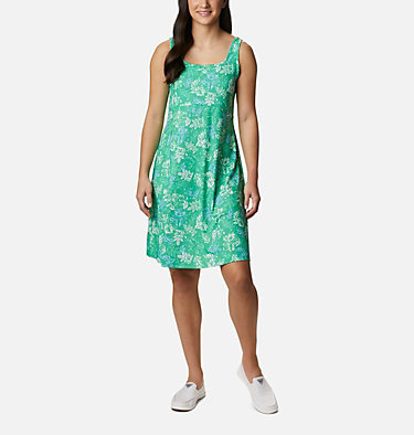 Women's PFG Freezer™ III Dress Freezer™ III Dress | 658 | L, Emerald City Archive Palms Print, front