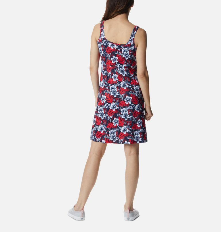Freezer™ III Dress | 474 | S Women's PFG Freezer™ III Dress, Collegiate Navy Vacay Vibes Print, back