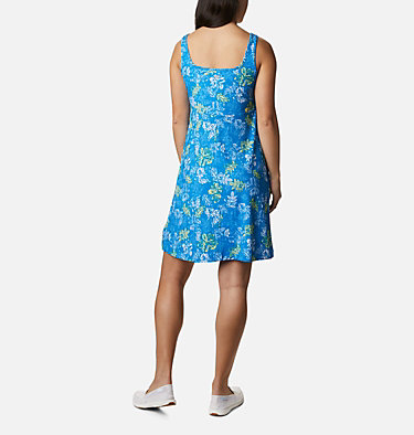 Women's PFG Freezer™ III Dress Freezer™ III Dress | 658 | L, Azure Blue Archive Palms Print, back
