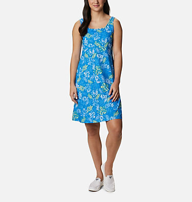 Women's PFG Freezer™ III Dress Freezer™ III Dress | 658 | L, Azure Blue Archive Palms Print, front