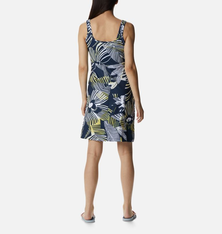Freezer™ III Dress | 493 | L Women's PFG Freezer™ III Dress, Collegiate Navy Stencil Hibiscus Print, back