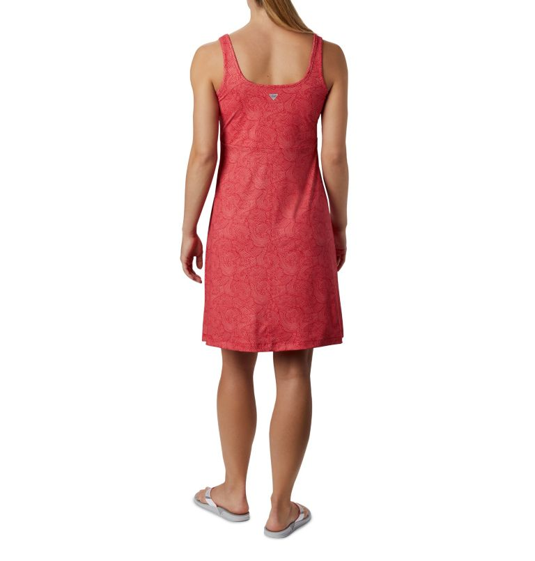 Freezer™ III Dress | 659 | S Women's PFG Freezer™ III Dress, Red Lily Seaside Swirls Print, back