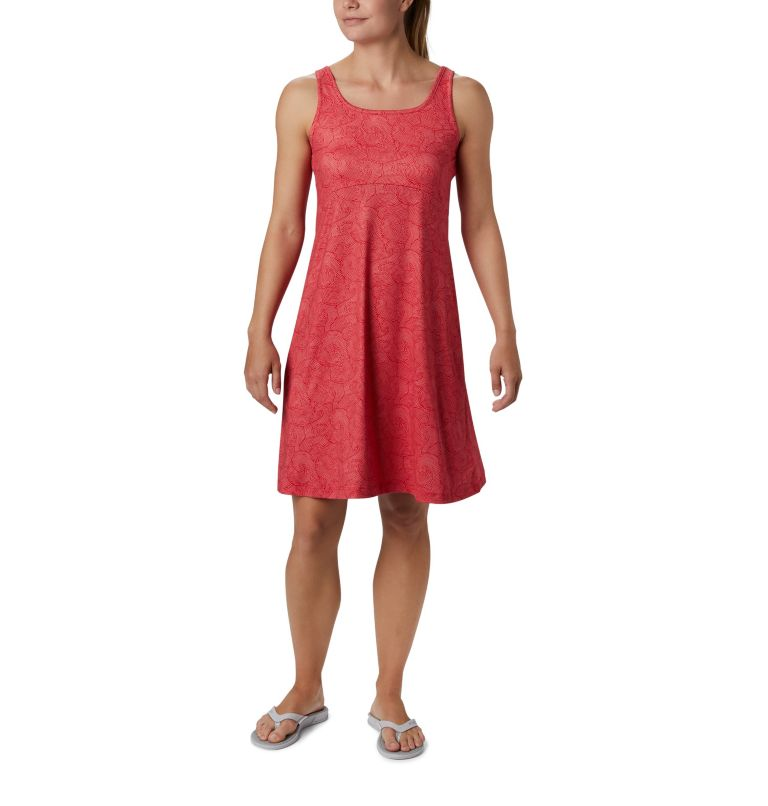 Freezer™ III Dress | 659 | S Women's PFG Freezer™ III Dress, Red Lily Seaside Swirls Print, front