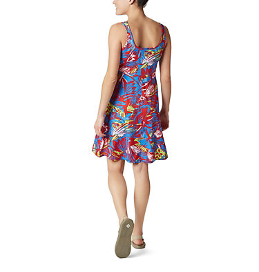 Women's PFG Freezer™ III Dress Freezer™ III Dress | 658 | L, Bright Red Shade Leaves Print, back