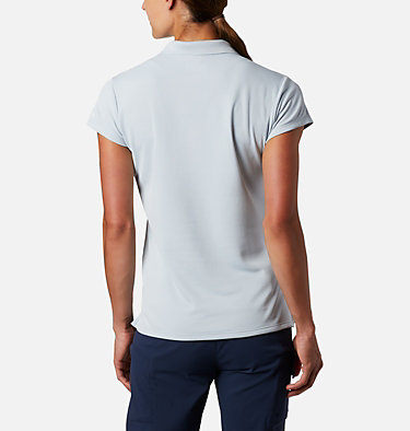 Women's PFG Innisfree™ Short Sleeve Polo Innisfree™ SS Polo | 475 | XS, Cirrus Grey, back