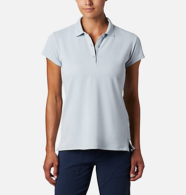 Women's PFG Innisfree™ Short Sleeve Polo Innisfree™ SS Polo | 475 | XS, Cirrus Grey, front