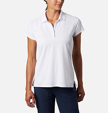 Women's PFG Innisfree™ Short Sleeve Polo Innisfree™ SS Polo | 475 | XS, White, front