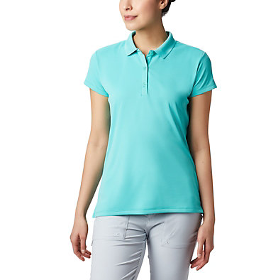 Women's PFG Innisfree™ Short Sleeve Polo Innisfree™ SS Polo | 475 | XS, Dolphin, front