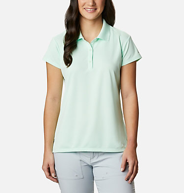 Women's PFG Innisfree™ Short Sleeve Polo Innisfree™ SS Polo | 475 | XS, Light Mint, front