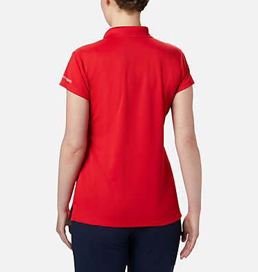 Women's PFG Innisfree™ Short Sleeve Polo Innisfree™ SS Polo | 475 | XS, Red Lily, back