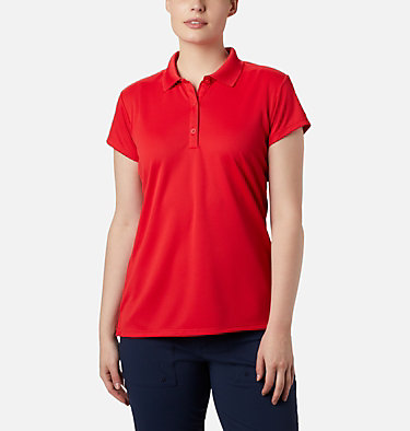 Women's PFG Innisfree™ Short Sleeve Polo Innisfree™ SS Polo | 475 | XS, Red Lily, front