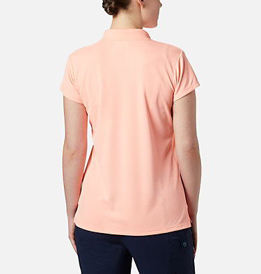 Women's PFG Innisfree™ Short Sleeve Polo Innisfree™ SS Polo | 475 | XS, Tiki Pink, back