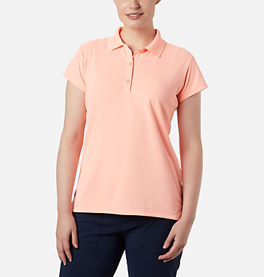 Women's PFG Innisfree™ Short Sleeve Polo Innisfree™ SS Polo | 475 | XS, Tiki Pink, front