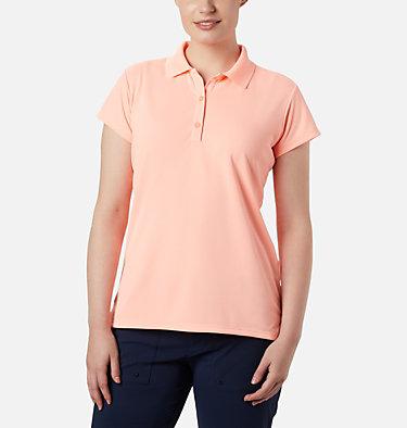 Women's PFG Innisfree™ Short Sleeve Polo Innisfree™ SS Polo | 475 | XS, Tiki Pink, front
