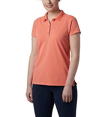 Women's PFG Innisfree™ Short Sleeve Polo Innisfree™ SS Polo | 475 | XS, Lychee, front