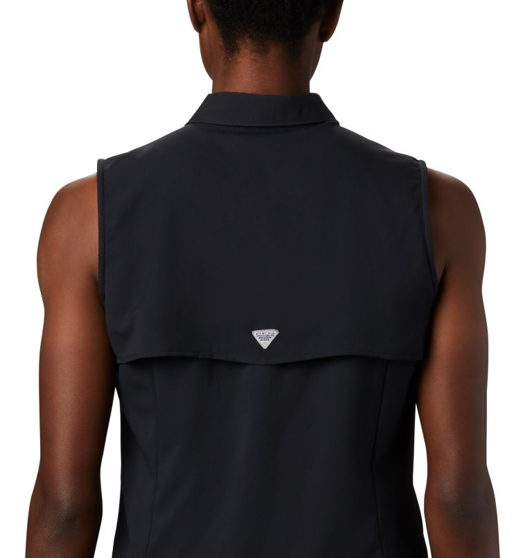 Tamiami™ Women's Sleeveless Shirt | 010 | L Women's PFG Tamiami™ Sleeveless Shirt, Black, a3