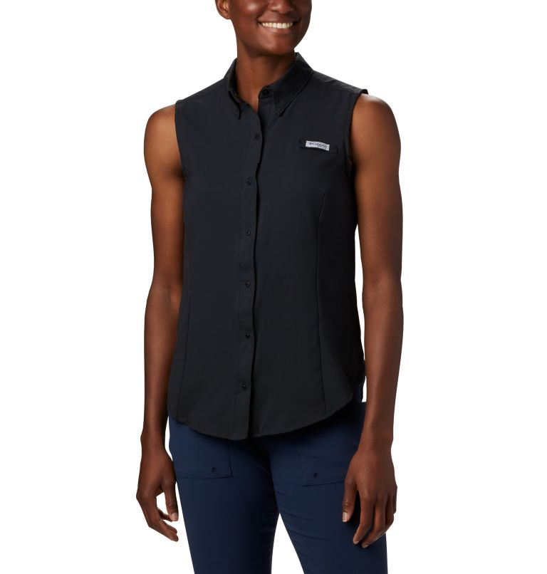 Tamiami™ Women's Sleeveless Shirt | 010 | L Women's PFG Tamiami™ Sleeveless Shirt, Black, front