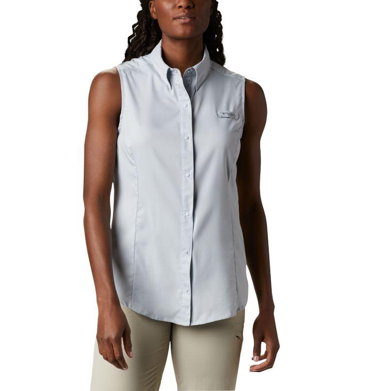 Tamiami™ Women's Sleeveless Shirt | 031 | XL Women's PFG Tamiami™ Sleeveless Shirt, Cirrus Grey, front