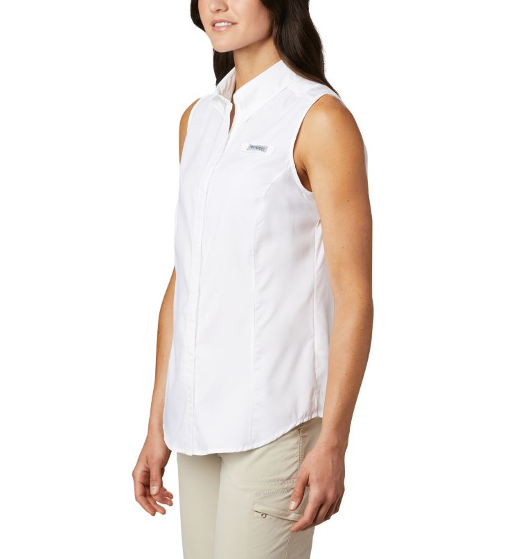 Tamiami™ Women's Sleeveless Shirt | 100 | XS Women's PFG Tamiami™ Sleeveless Shirt, White, a1