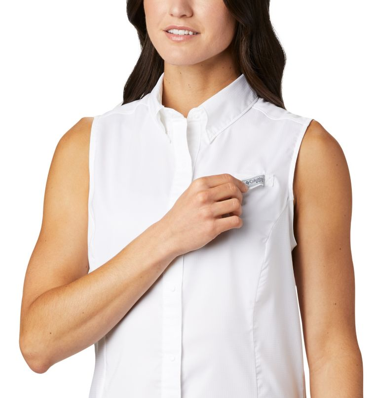 Tamiami™ Women's Sleeveless Shirt | 100 | XS Women's PFG Tamiami™ Sleeveless Shirt, White, a2