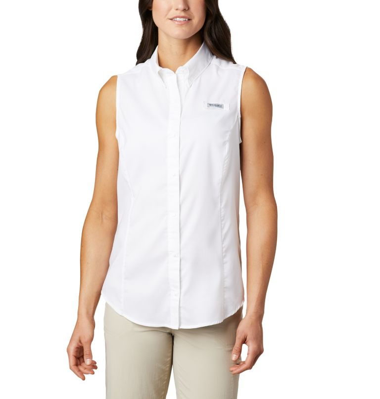 Tamiami™ Women's Sleeveless Shirt | 100 | XS Women's PFG Tamiami™ Sleeveless Shirt, White, front