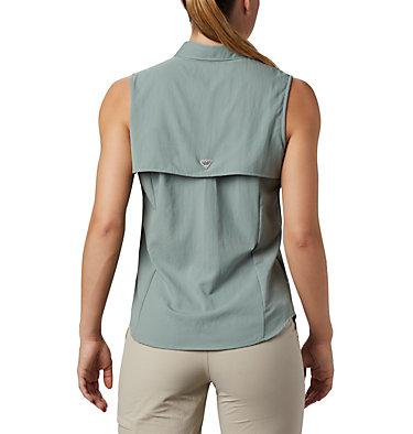 Women's PFG Tamiami™ Sleeveless Shirt Tamiami™ Women's Sleeveless Shirt | 305 | S, Light Lichen, back