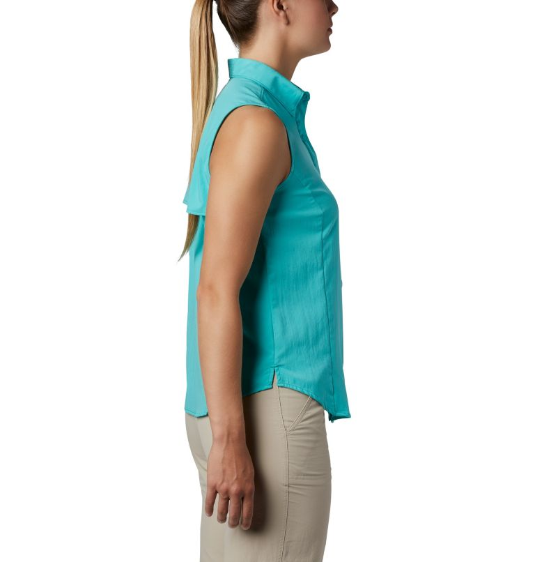 Tamiami™ Women's Sleeveless Shirt | 356 | L Women's PFG Tamiami™ Sleeveless Shirt, Dolphin, a1