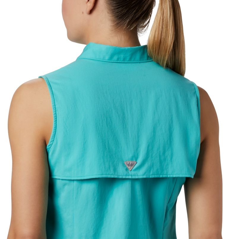 Tamiami™ Women's Sleeveless Shirt | 356 | S Women's PFG Tamiami™ Sleeveless Shirt, Dolphin, a3