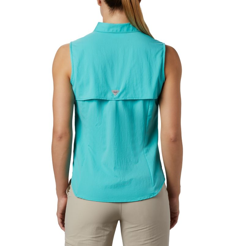 Tamiami™ Women's Sleeveless Shirt | 356 | S Women's PFG Tamiami™ Sleeveless Shirt, Dolphin, back