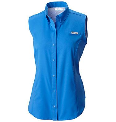 Women's PFG Tamiami™ Sleeveless Shirt Tamiami™ Women's Sleeveless Shirt | 305 | S, Stormy Blue, front